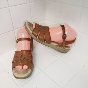 SAS Huarache Womens Brown Sandals Size 9